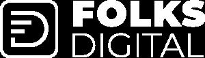 folks digital white logo